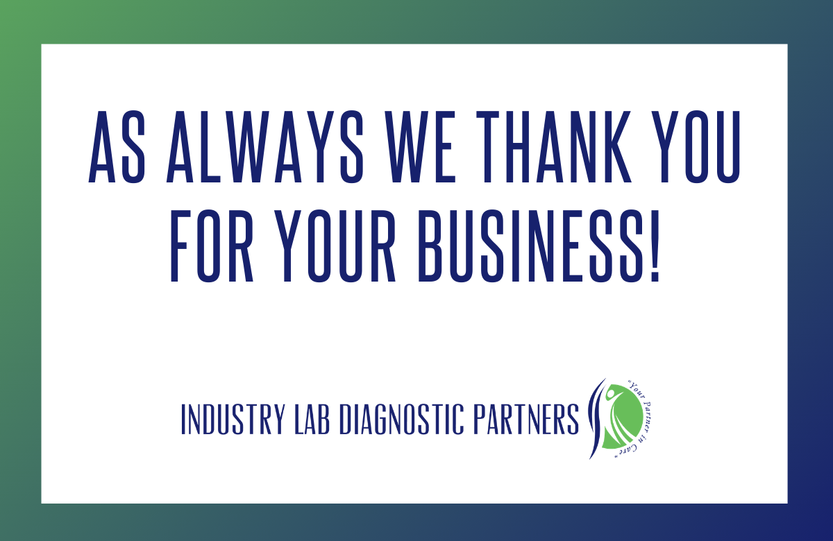 As always, we thank you for your business!